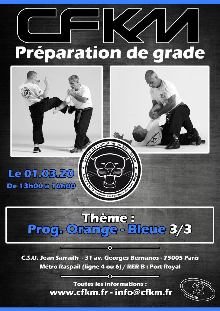 Affiche stage Orange-Bleue 3/3